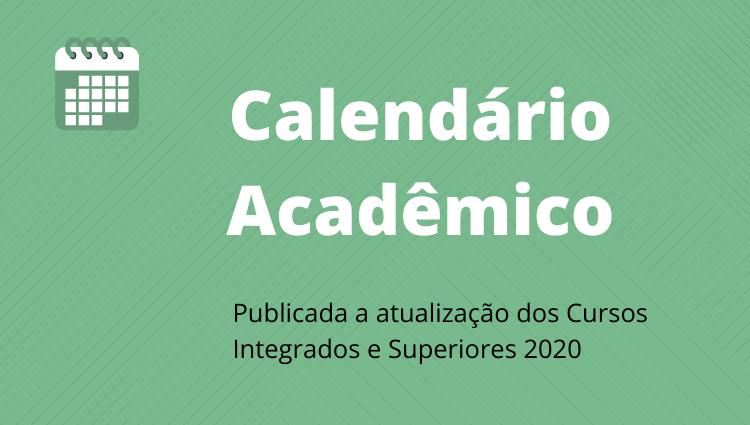 Atualização calendário acadêmico
